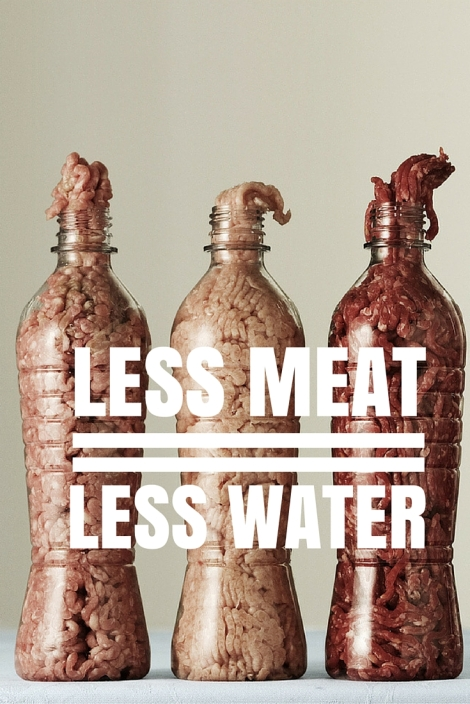 less meat = less water